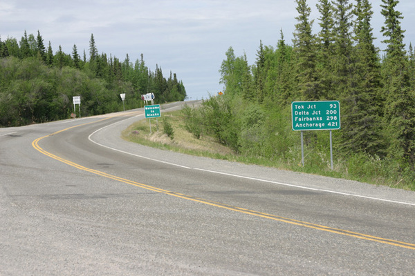 Alaska Highway Entrance to Border City Alaska