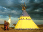 Browning Montana Blackfeet Country Tipi