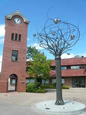 Clock Tower and Spirit Tree Downtown Cranbrook BC
